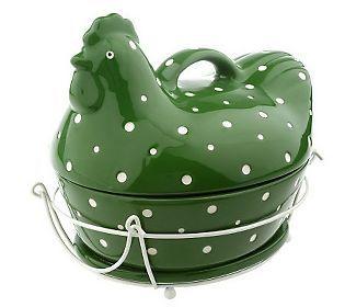 QVC, clearance, green, hen, kitchen stuff. Love it! | For ...