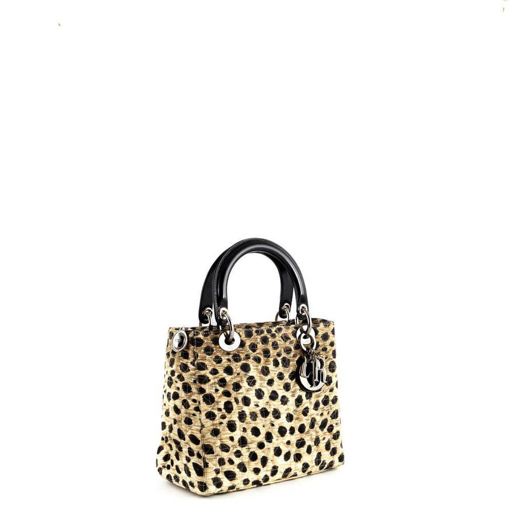 f879811532cf Dior Limited Edition Leopard Cannage Medium Lady Dior