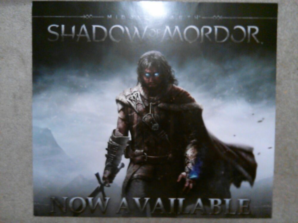 Middle Earth Shadow of Mordor Lord of the Rings Poster ...