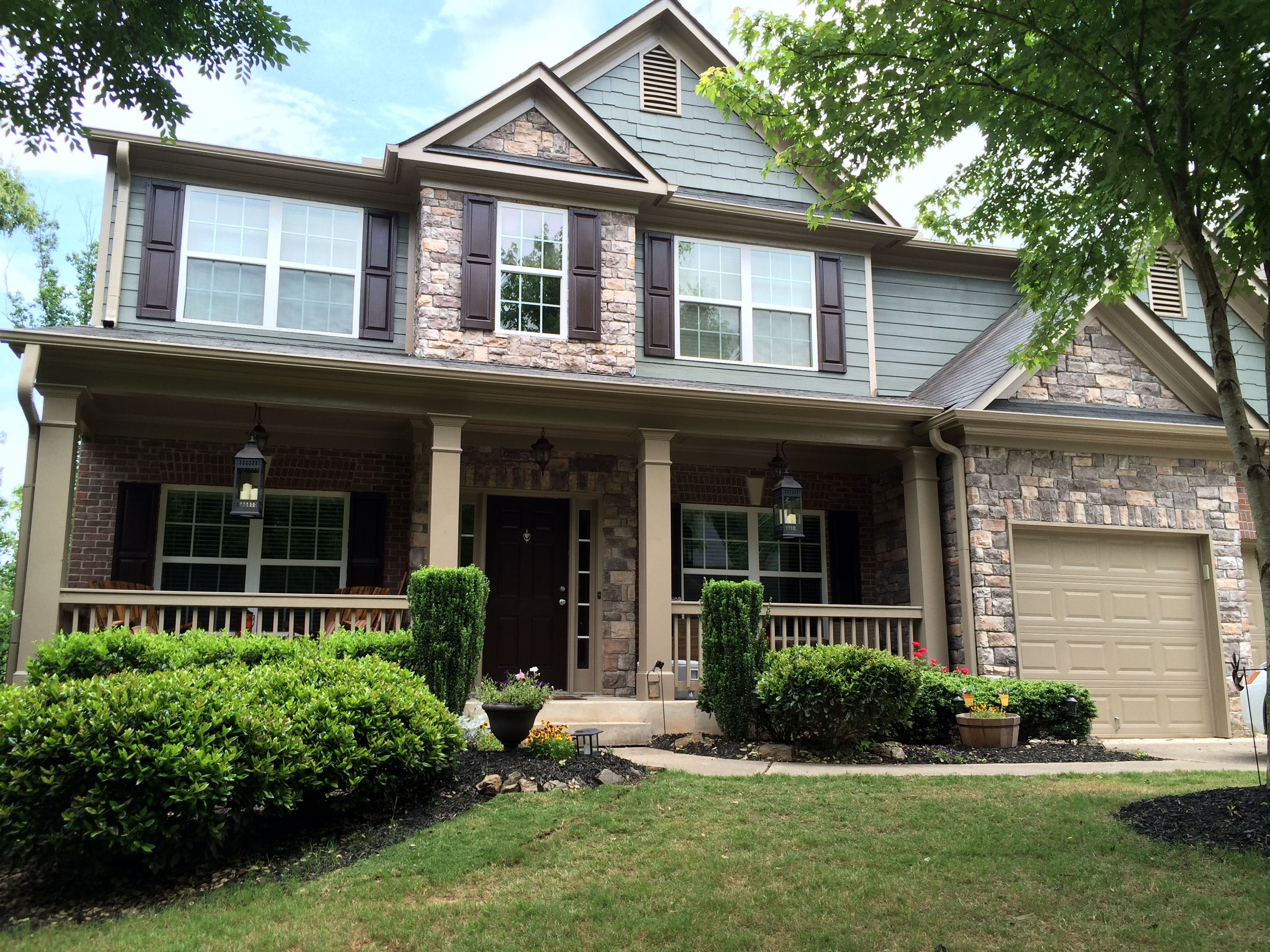 Newly painted sherwin williams thunderous exterior - Sherwin williams exterior colors ...