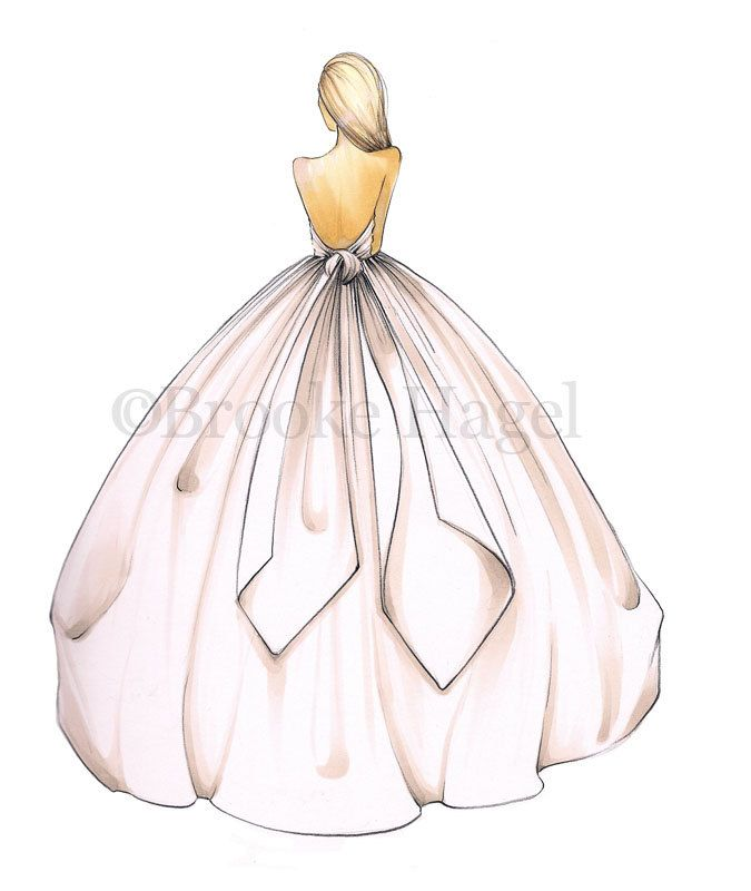 gwen bridal fashion illustration 2000 via etsy art
