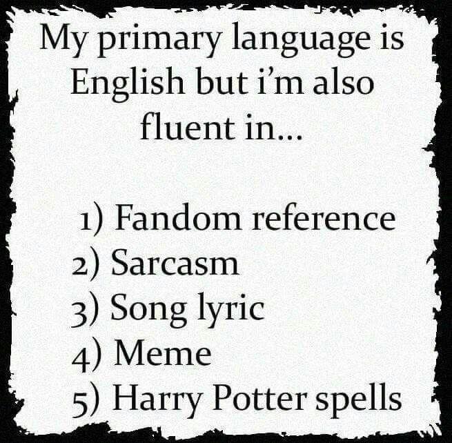 My primary languages