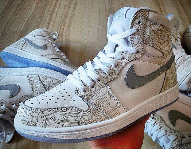 Nike Jordan Jordan 1 Alors Rétro Chaussure De Basket-ball Et Salut Laser