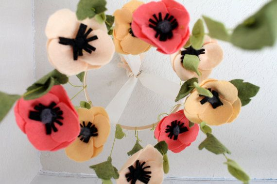Enchanting Wool Felt Anemone Flower/Bloom by SweetEnchantement