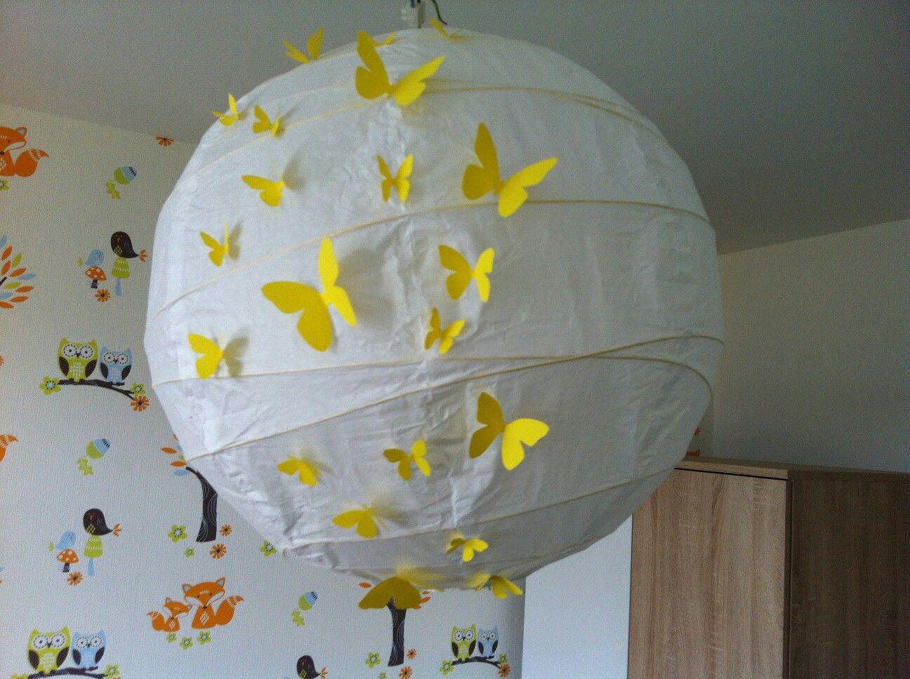 Ikea Kinderzimmer Lampe | Kinderzimmer Lampe Gelb Schmetterling Ikea Pimp It Selbst Gemacht