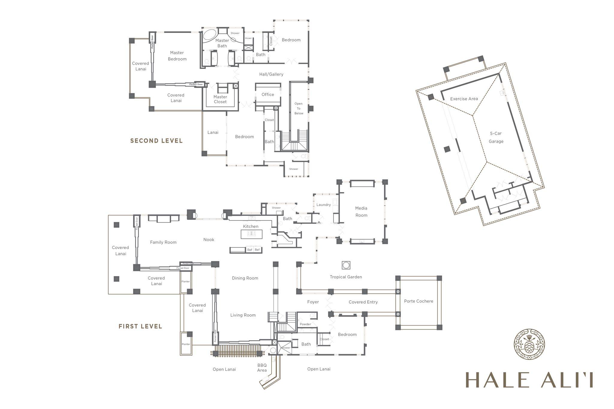9 Kapalua, Maui Floor plans, Floor plan design, Custom homes
