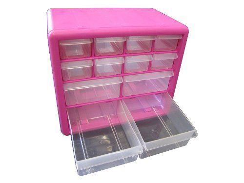 Pink Drawer Small Parts Organizer