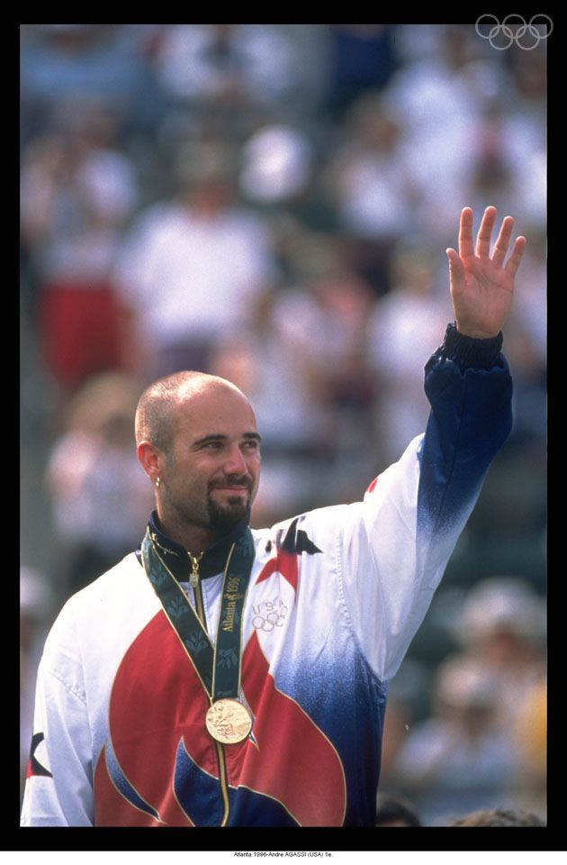 Atlanta 1996-Andre AGASSI Greatest Tennis player ever ...