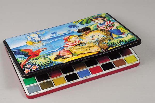 Vintage Watercolor Tin Childhood Memories Old Toys Vintage Toys