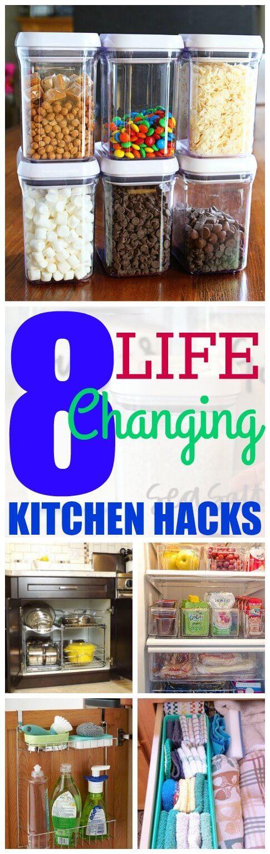 8 genius kitchen organization hacks organizaci n del - Organizadores hogar ...