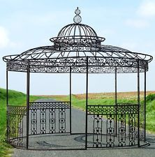 grande tonnelle pergola en fer metal de jardin dome grille barriere ronde pergolas pinterest. Black Bedroom Furniture Sets. Home Design Ideas