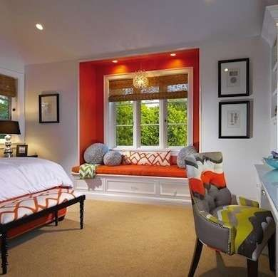 20 Unexpected Spots For Accent Colors Eclectic Bedroom Home