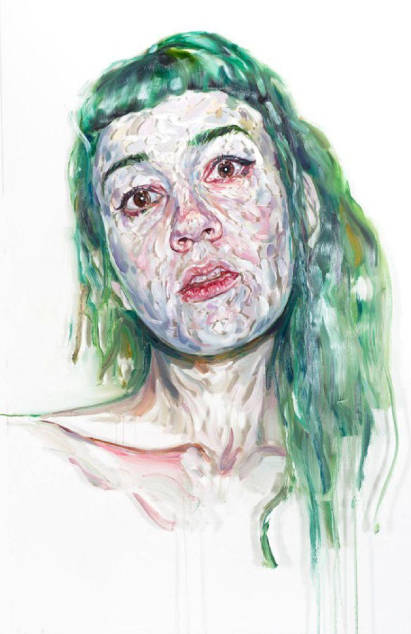 Les Portraits texturés et passionnés de Kim Hyunji | Portraits, Portrait peinture, Les arts
