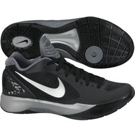 Nike Women's Volley Zoom Hyperspike Volleyball Shoe Black/White