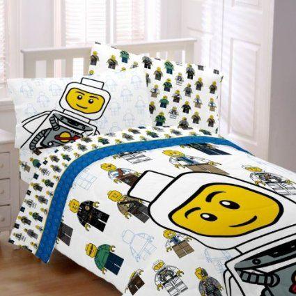 ludzik Lego w łóżku   LEGO   Pinterest   Lego, Lego city and Comforter