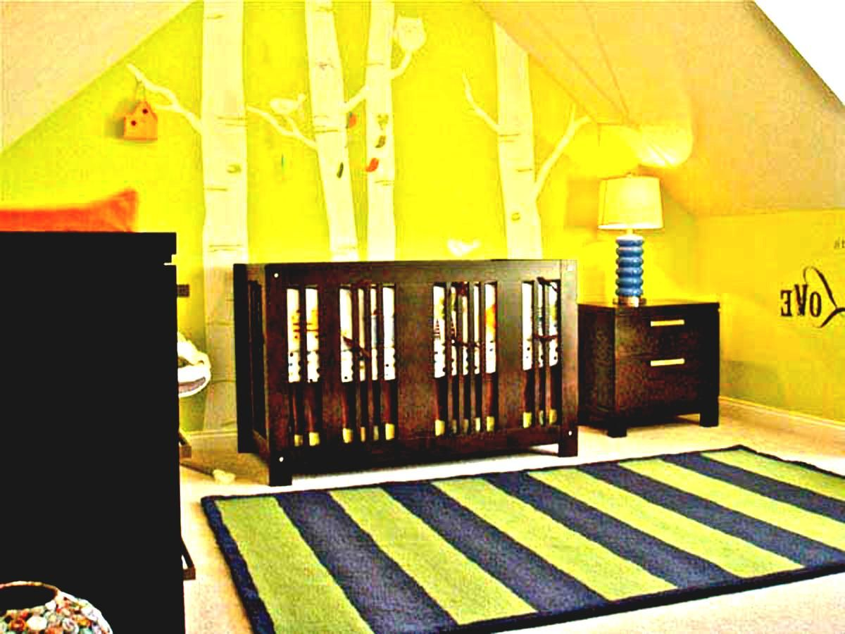 Modern Boy Baby Room Ideas Decorations With Green Wall Paint And ...