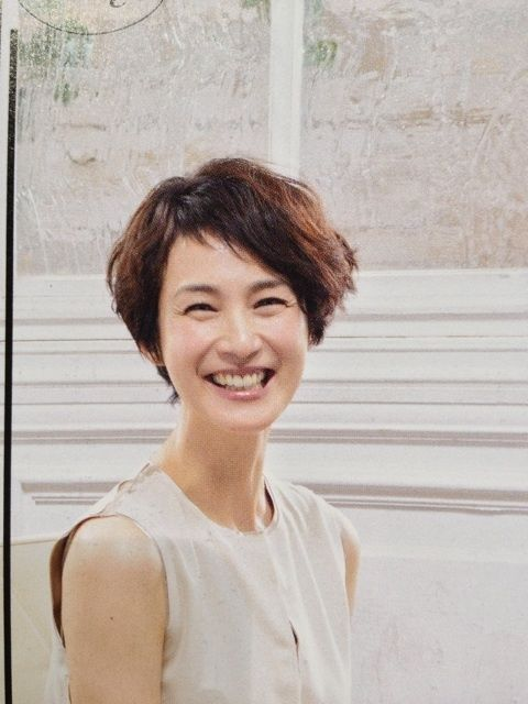 安田成美さんのショートウェーブ 安田成美 髪型 髪型 ヘアスタイル