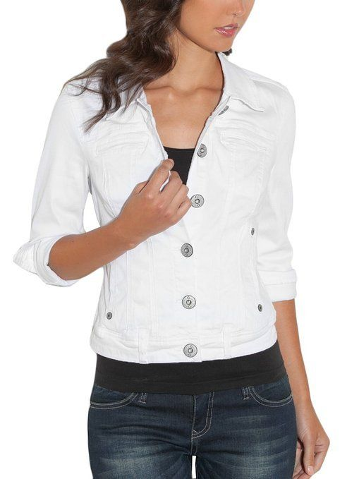 G by GUESS Trespasser Denim Jacket White $49 AUTHENTIC- SHIPS FREE ♥ BUY HERE: http://www.beachhippieinc.net/g-by-guess-trespasser-denim-jacket-white/ ♥ INCLUDES NORTON SHOPPING PROTECTION & LOWEST PRICE GUARANTEE!