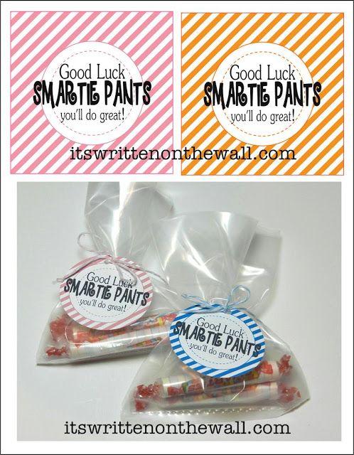 (Freebie) Good Luck Smartie Pants-Lunchbox Treat for School