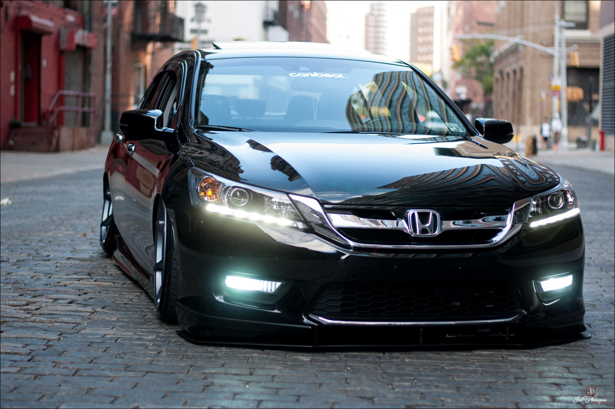 2013 honda accord bagged on velgen vmb8 20x10 5 matte for Honda black car