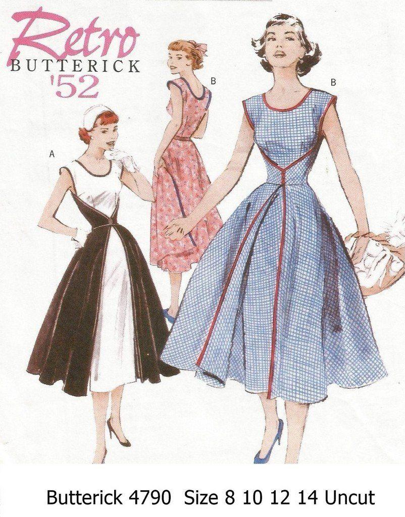 Butterick+B4790+Misses+Retro+Style+\'52+1950s+Walk-Away+Wrap+Dress+ ...