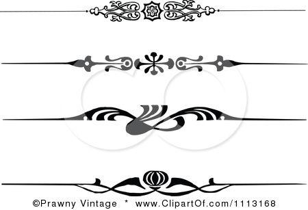Clipart Vintage Black And White Decorative Art Deco Borders Royalty Free Vector Illustration By Prawny Vin Art Deco Borders Clip Art Borders Clip Art Vintage