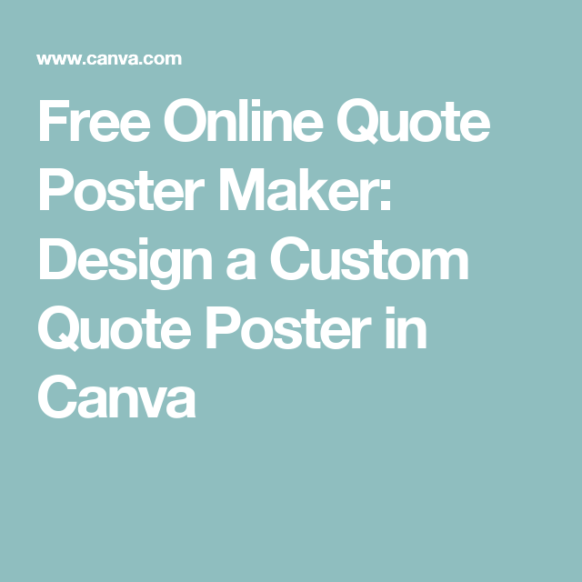 free online quote poster maker design a custom quote poster in