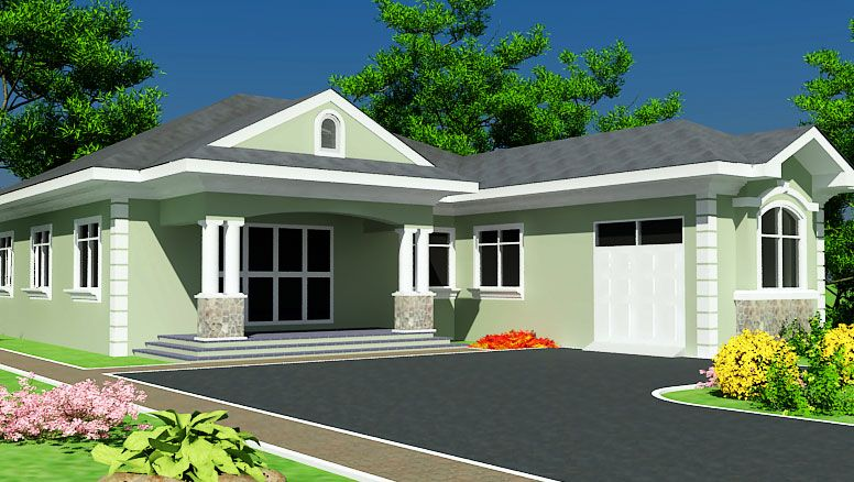 Ghana House Plans Abeeku House Plan Ranch Style House Plans House Plans Building Plan