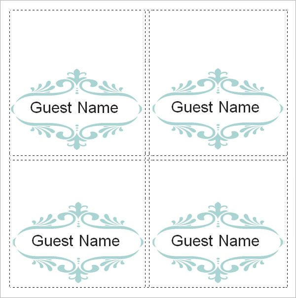 Free 7 Place Card Templates In Ms Word Pdf Intended For Within Profess Printable Place Cards Templates Wedding Place Card Templates Free Place Card Template