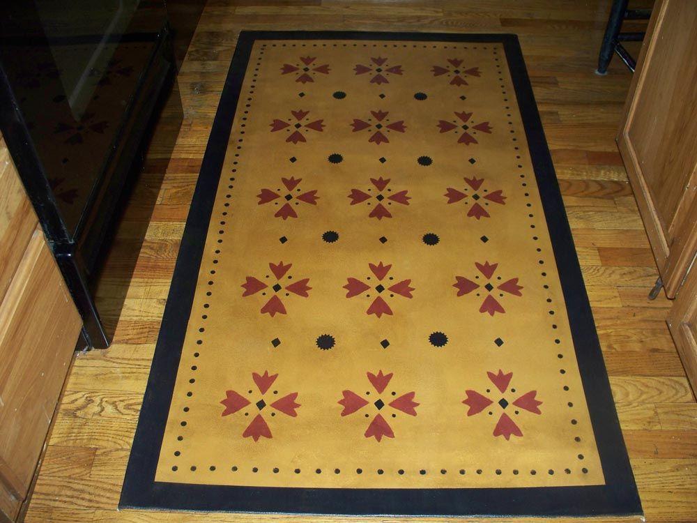 Floor Cloth Painted Floor Cloths Floor Cloth Stenciled