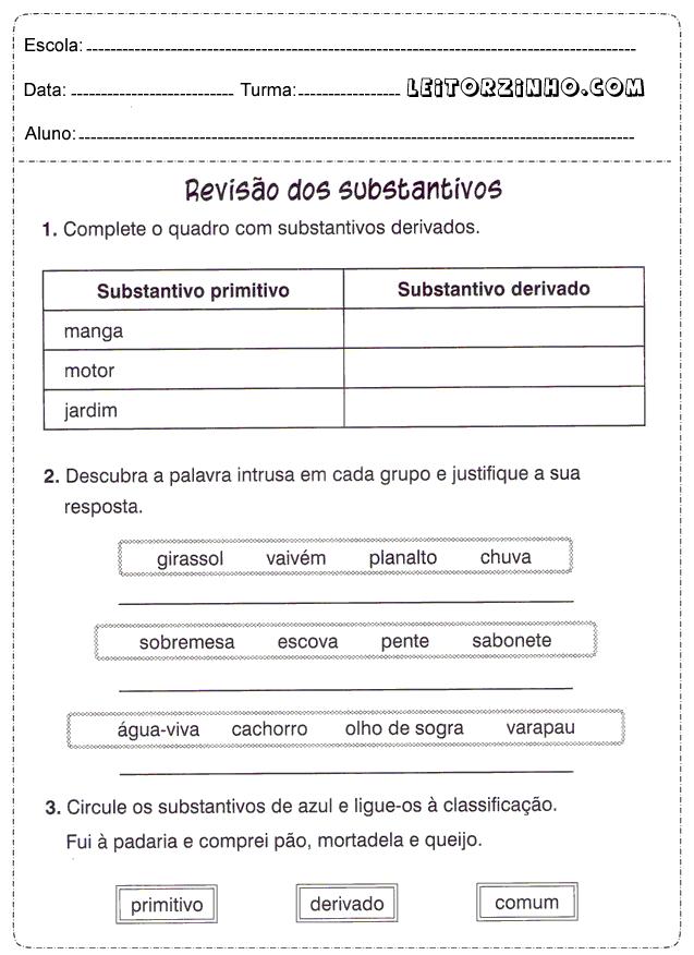 Atividades+portugues+4+ano+substantivo.png (637×876)