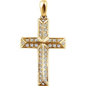 14k yellow gold diamond cross pendant also comes in white gold and 14k yellow gold diamond cross pendant also comes in white gold and rose gold aloadofball Image collections