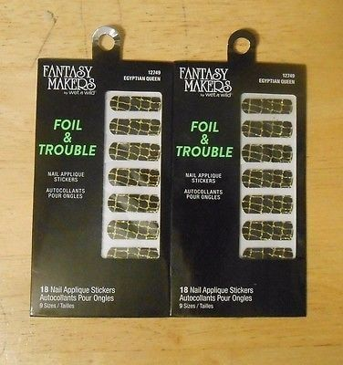 Fantasy Makers Foil &Amp;Amp; Trouble Nail Stickers 12749 Egyptian Queen