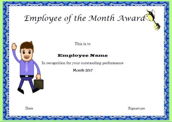 EmployeeOfTheMonthAwardCertificatesTemplates  Employee Of