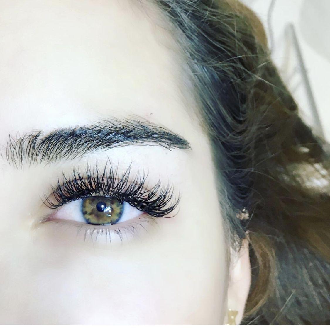 11c8b170133 Hybrid full set using silk lashes #EyelashExtensionsTips | Eyelash ...