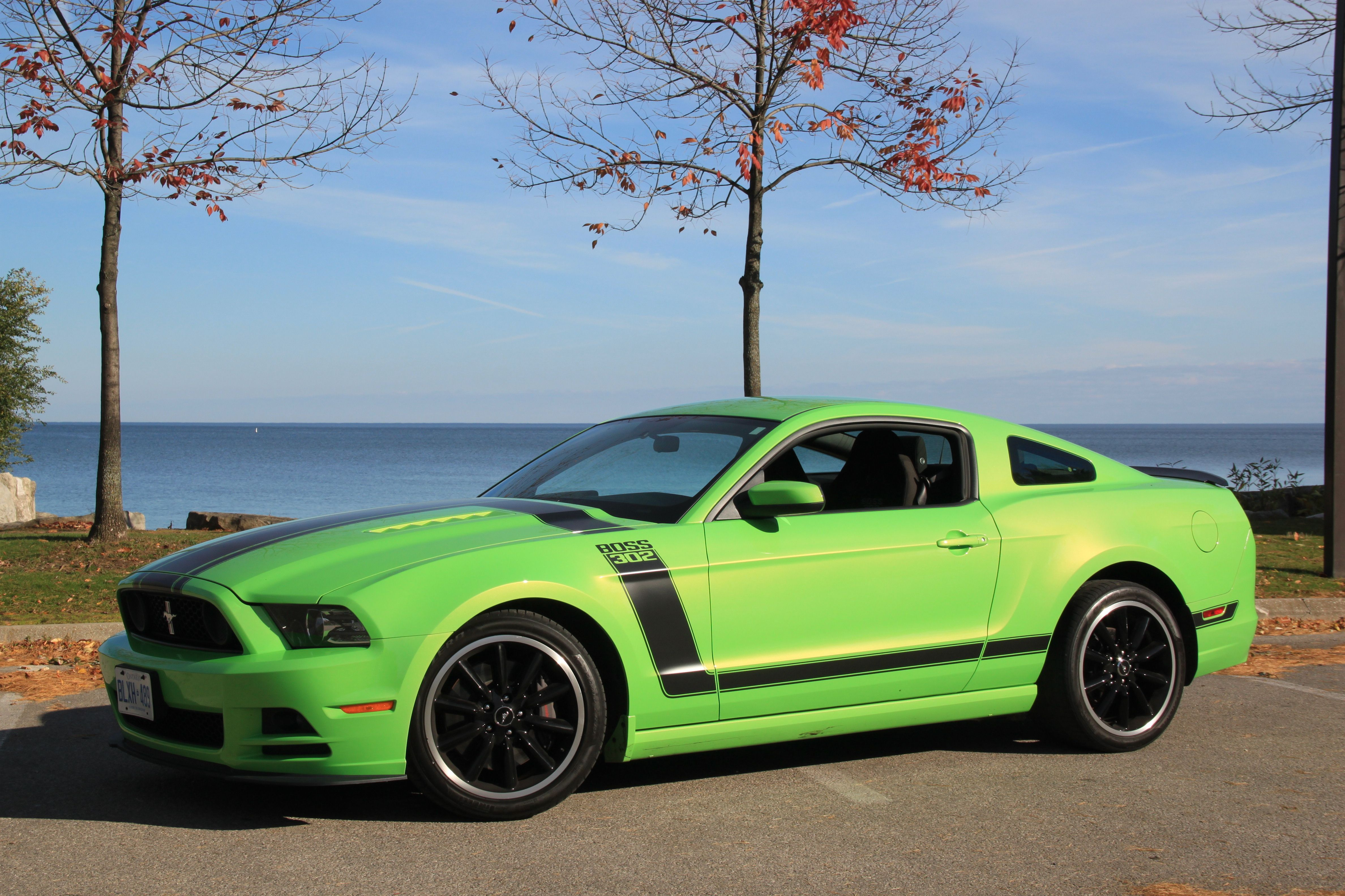 Green ford mustang boss 302 444