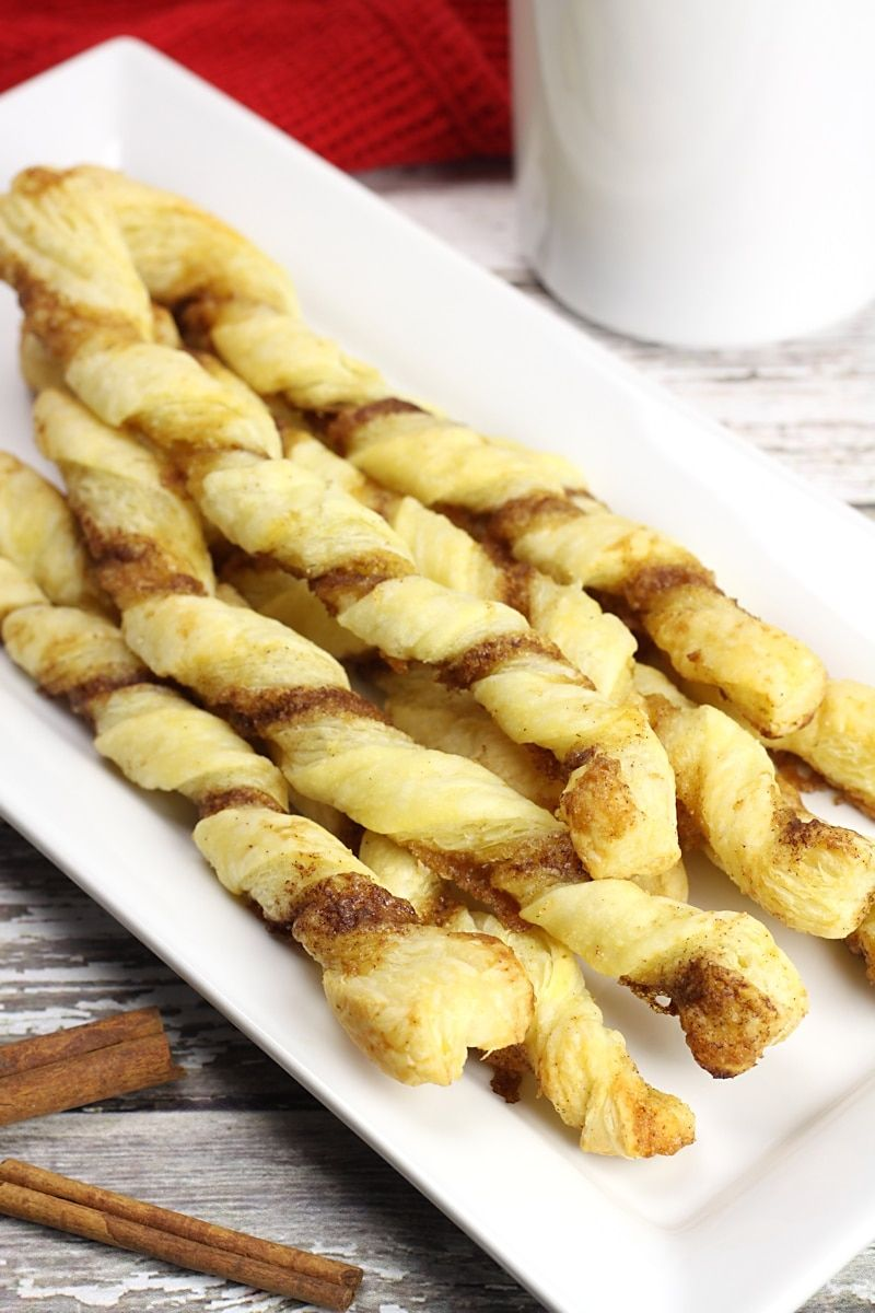 Puff Pastry Cinnamon Twists - The Toasty Kitchen