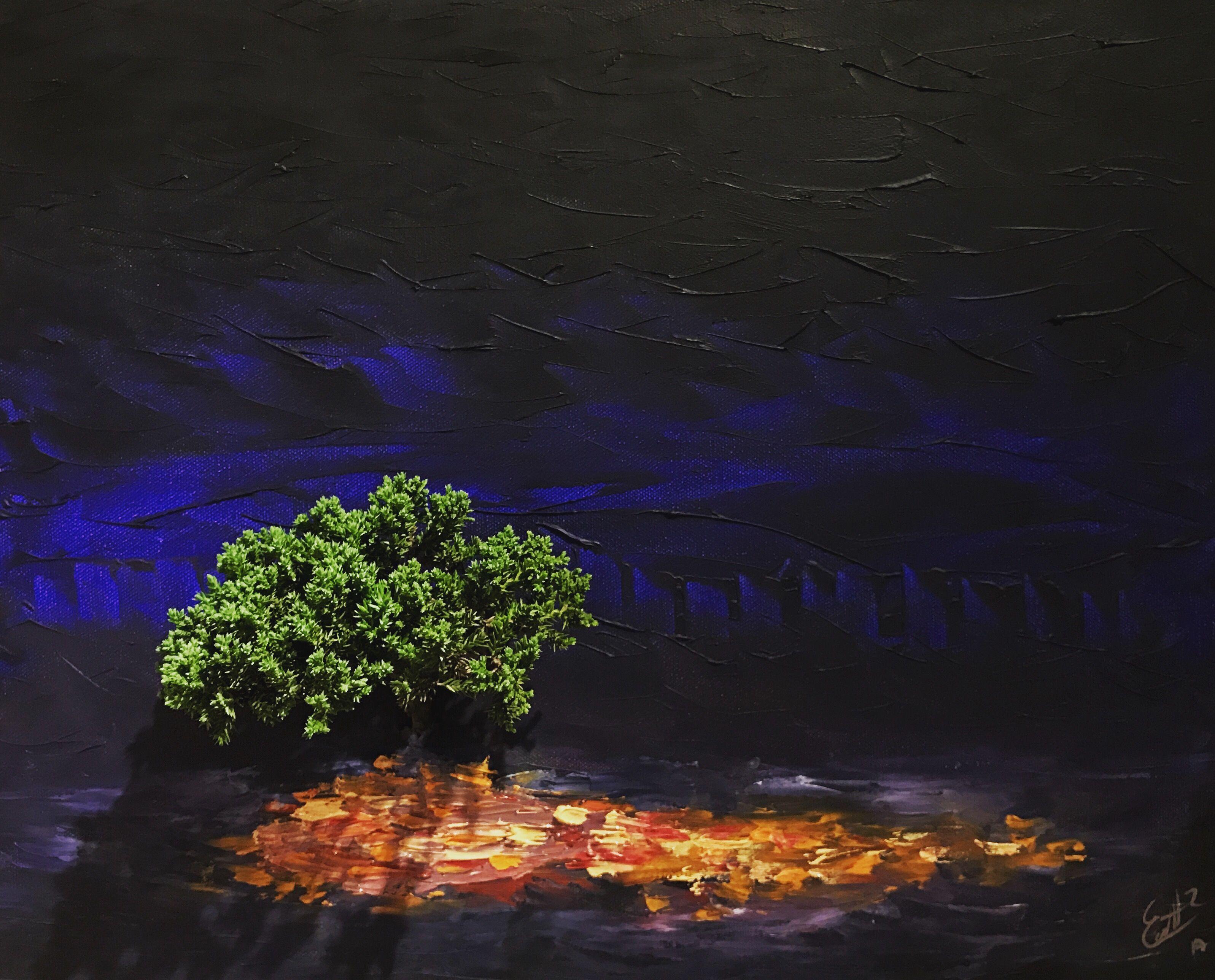 Pintura viva ultra #hyper #realism #concept #tree #paint #art #oil #abstract #mexico #painting arbor en pintura de oleo arte vivo zarza ardiente