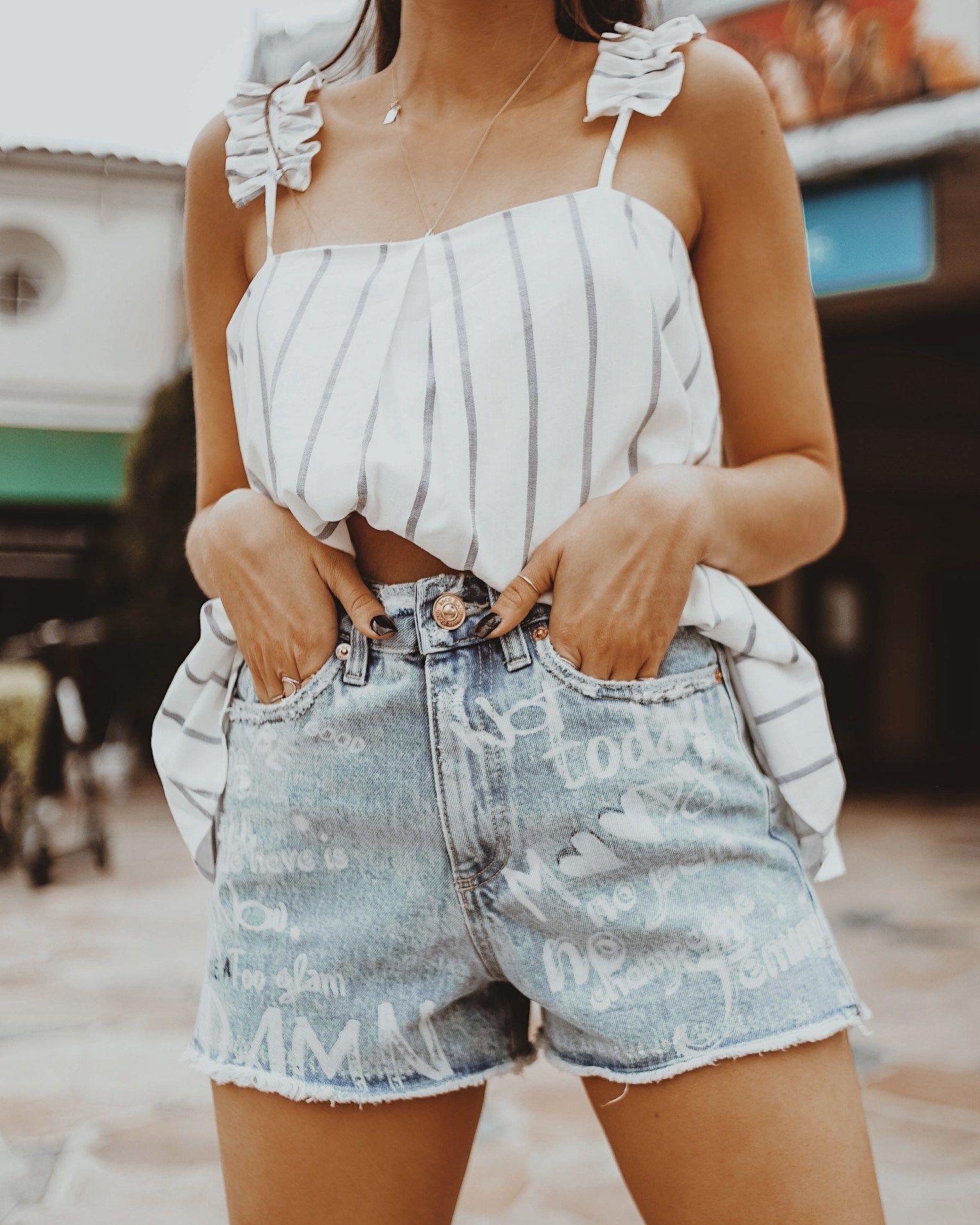 1f3e5e8999 ... insta style, brunette girls, fashion bloggers, california girls, cali  style, river island, funky denim, denim shorts for summer, trendy denim