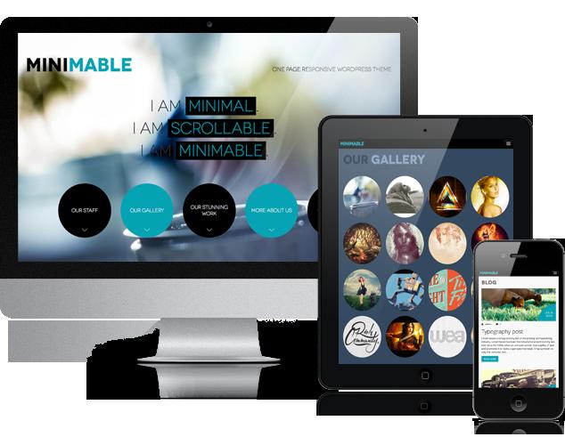 Minimable - Free Responsive Wordpress Theme | Free One Page ...