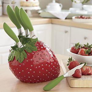 6 Piece Strawberry Knife Set Kitchen Decorations