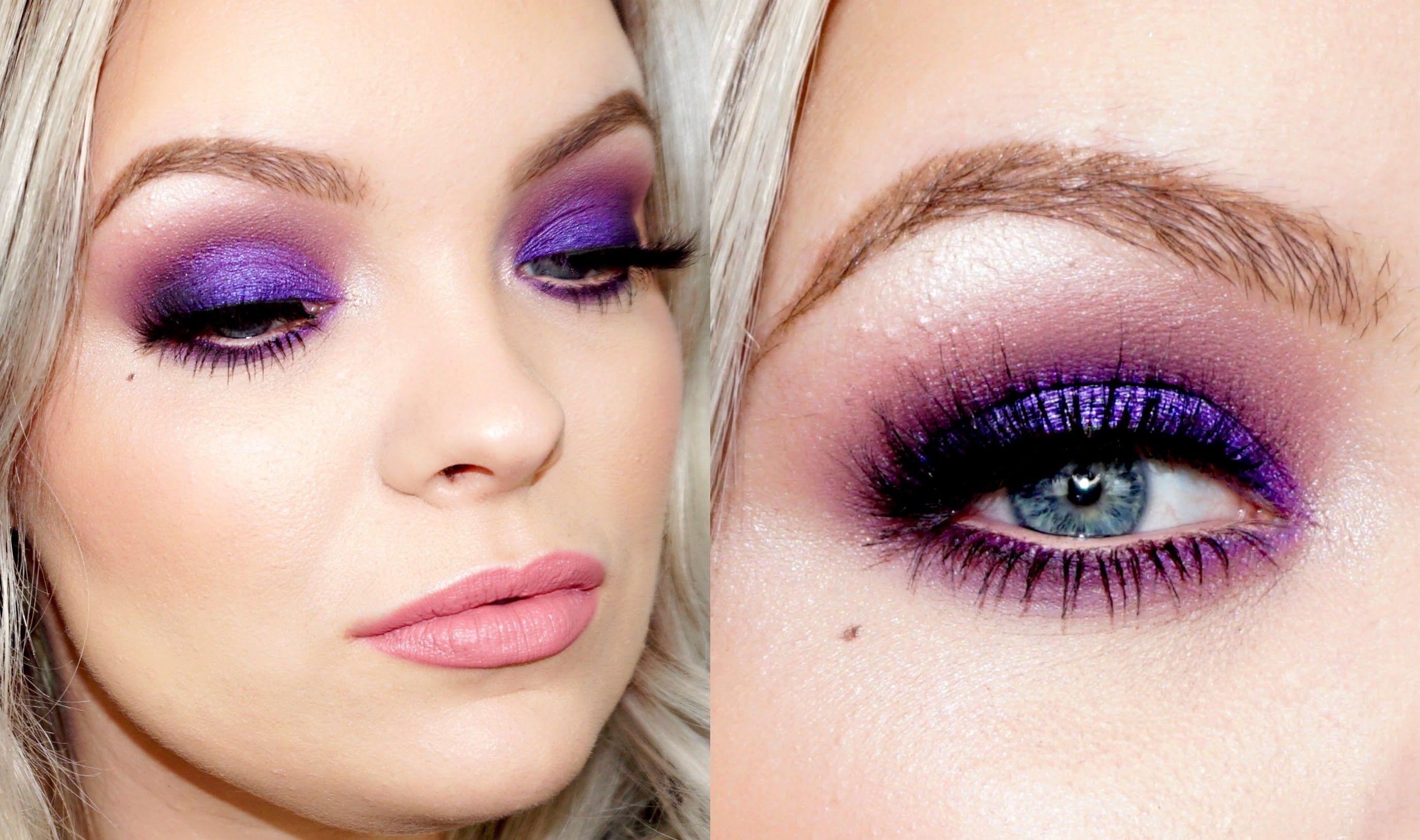 Party Purple Smokey Eyes - Colorful & Electric | Brianna Fox