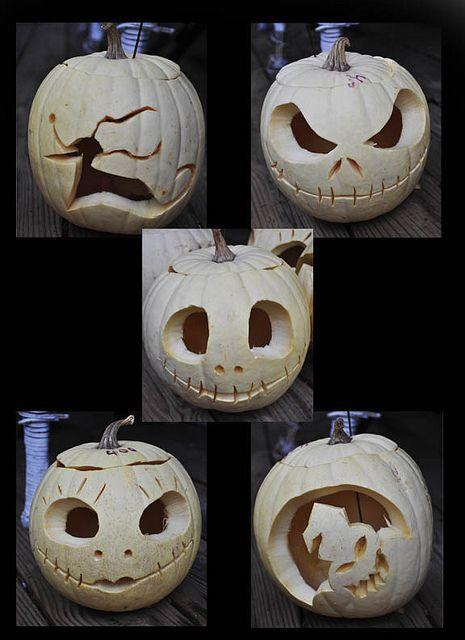 Nightmare Before Christmas Pumpkins Halloween Pinterest