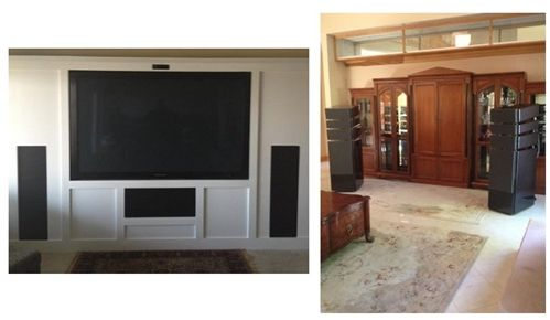 In Wall Home Theater Systems custom speaker grills & speaker covers - custom sized grills and
