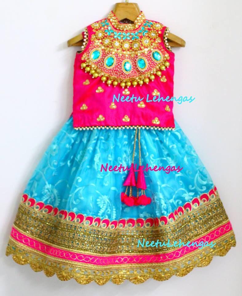 Pin By Neetu Gagan Gauba On Mehndi: Lovely Lehangas For Little Angels Designed By Neetu