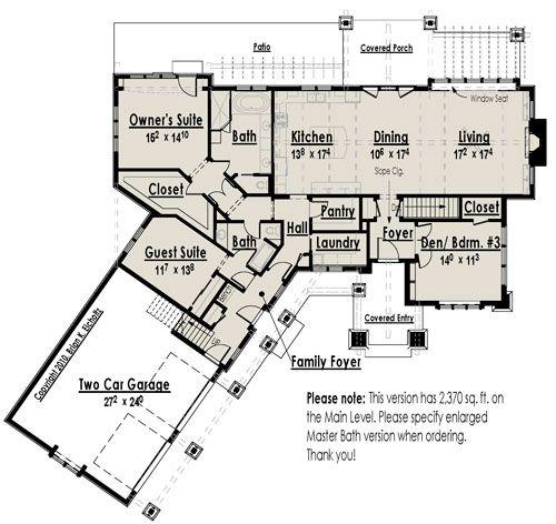 House plan mountain cottage