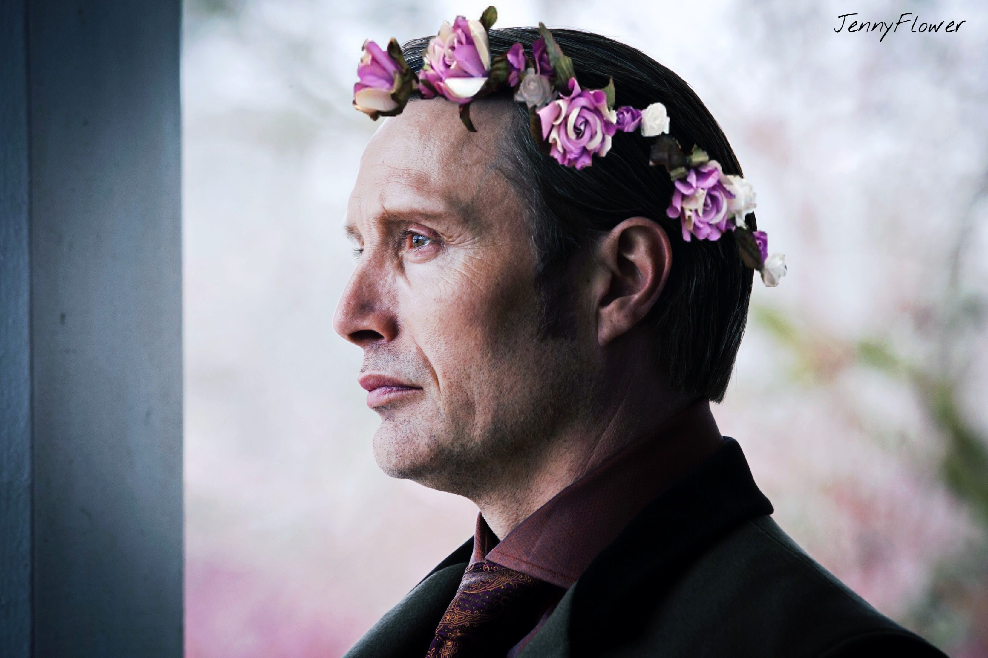 Hannibal Flowers Crown Jennyflower Hannibal Lecter Art