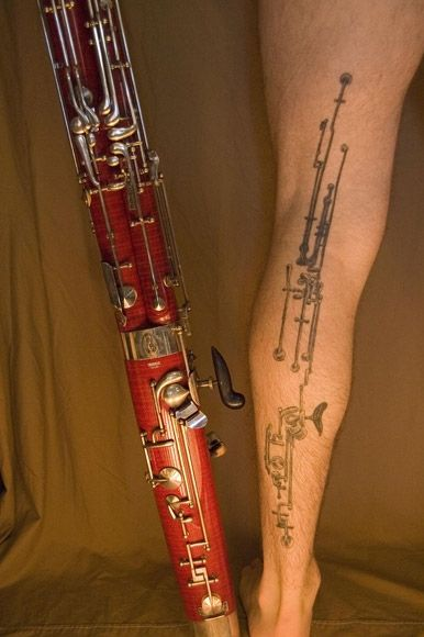 bassoon tattoo don t necessarily love it but love the geekiness of