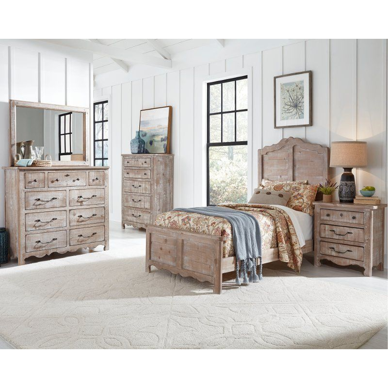 Farmhouse Chalk 4 Piece Twin Bedroom Set - Chatsworth ...