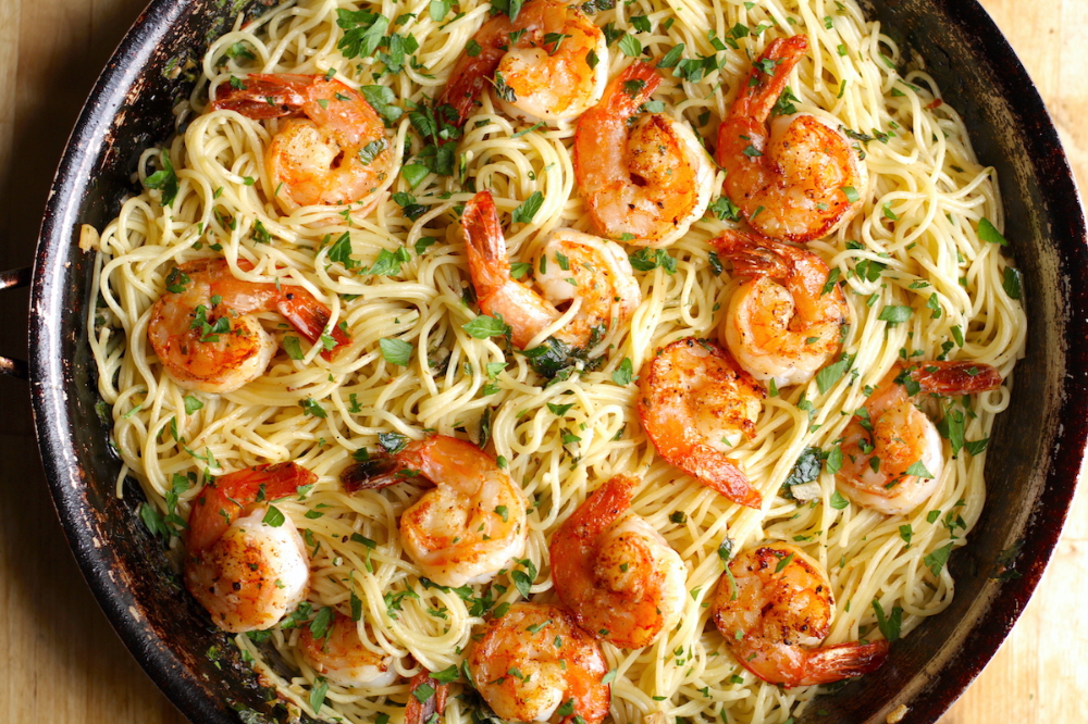 Shrimp Scampi with Pasta #shrimpscampi